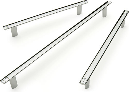 dimpled polished chrome kitchen cupboard door handle 160mm 6 50