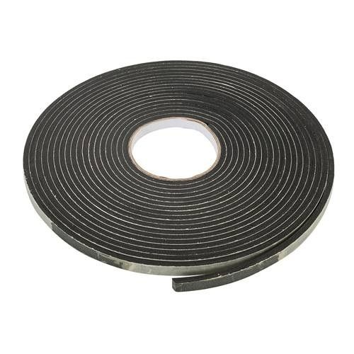 Self-Adhesive EVA Foam Gap Seal 4mm 10.5m Black Draught Excluder