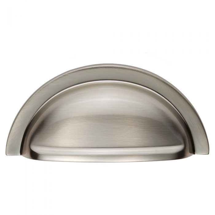Satin Nickel 76mm Hole Centres Kitchen Cup Handle Henrietta
