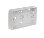 32mm Surface Mounting Pattress Box for Double Sockets
