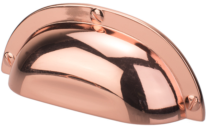 Polished Copper Rose Gold Cup Handle, 64mm