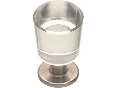 21mm Stainless Steel Finish Glass Knob -