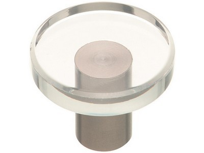 Stainless Steel Finish Glass Knob